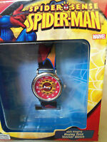 Spider-man Watch Spider Sense Marvel Web Slinging Analog Time Teacher In Box