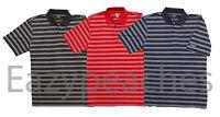 Reebok Golf Mens M-xl 2xl 3xl 4xl 5xl Jacquard Striped Dri Fit Polo Sport Shirts
