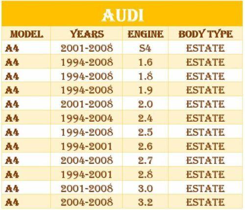 AUDI A4 B6 B7 VW B5 Excelente suspensión Delantera Horquilla Brazo de control de pista Kit