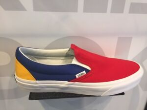 Vans Slip-On Yacht Club ColorBlocked Blue Red Yellow Green White ... 04293361c