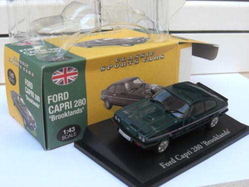 Ford Capri 280 Brooklands brg grön Atlas UK MIB 1 43 eskort Granada eller Great