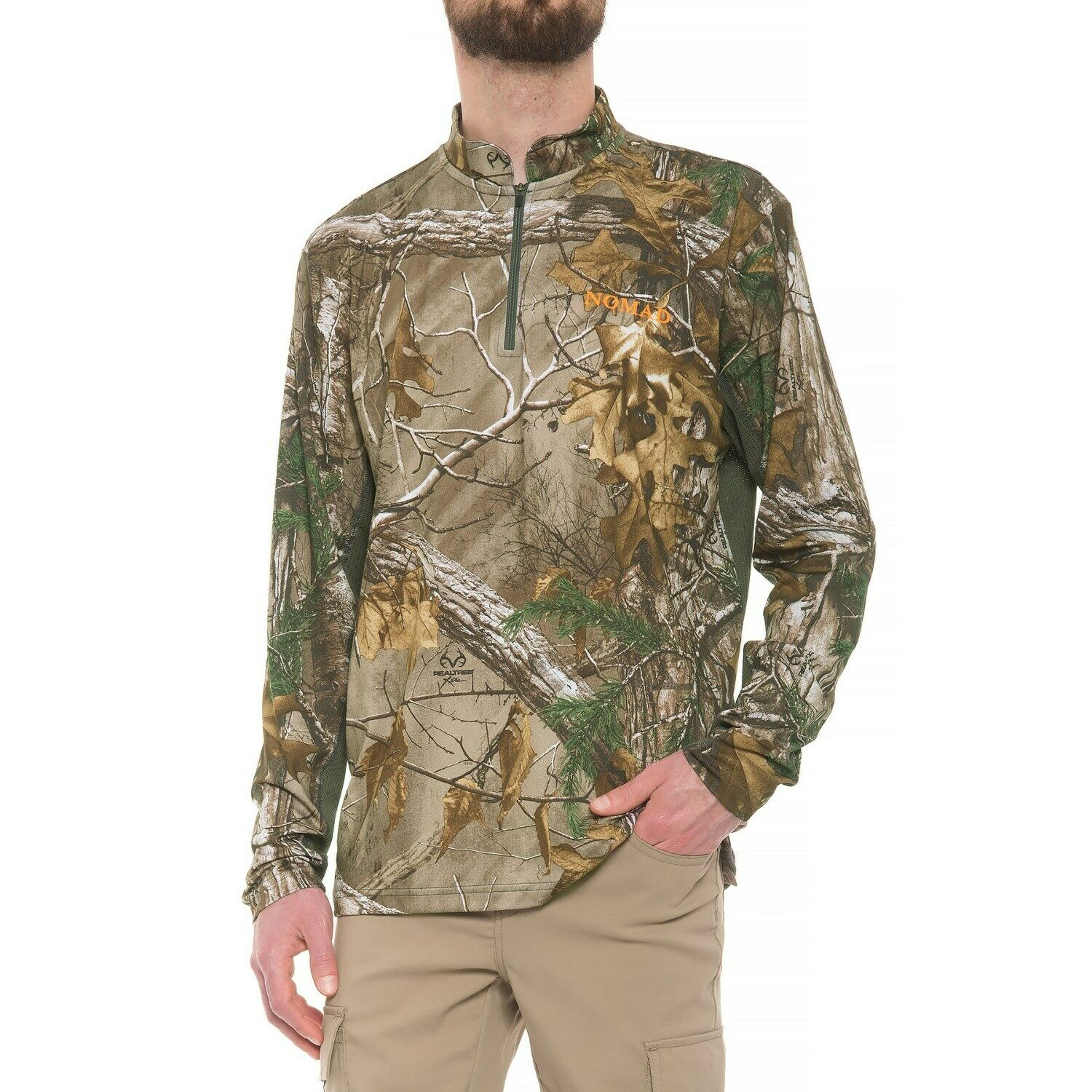 NOMAD 1 4 Zip - L S Breathable Base Layer Camo Suppression Shirt - Choose Size