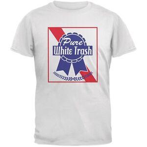 Pure white trash white adult t shirt ebay for Tattooed white trash t shirt