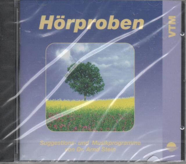Hörproben Suggestions- und Musikprogramme von Dr. Arnd Stein CD NEU Meditation