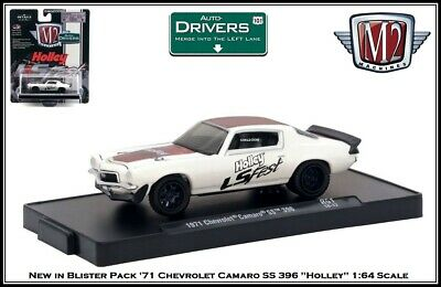 New M2 1//64 Diecast Car /'71 Chevrolet Camaro SS 396 in a Acrylic Display Case