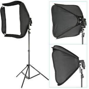 Neewer-Pro-Portable-24x24-034-Hotshoe-Softbox-for-Speedlite-9ft-Light-Stand-Kit