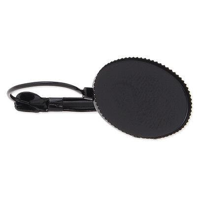 50pcs 13*18mm Oval Bezel French Lever Back Earring Base Blanks Earrings Findings