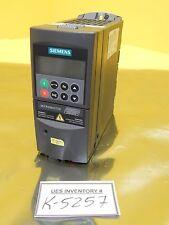 Siemens 6SE6420-2UD17-5AA1 Micromaster 420 6SE6400-1PB00-0AA0 Used Working