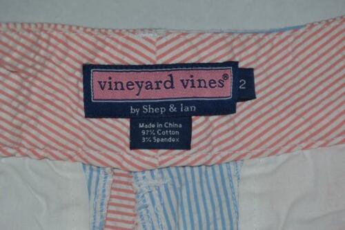 Vineyard Ian Vines Donna 2 scozzesi Shep Pantaloncini blu Seersucker rosso Taglia BBTqwrxO