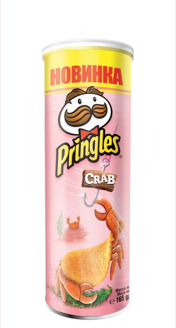 Pringles CRAB. Net weight: 165g.