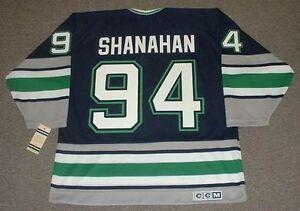 e0956ba80 Image is loading BRENDAN-SHANAHAN-Hartford-Whalers-1995-Away-CCM-Vintage-