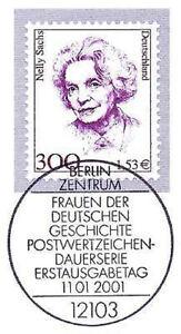 FidèLe Rfa 2001: Nelly Sachs Nr 2159 Avec Propre De Berlin Ersttags-cachet Spécial! 1606-rstempel! 1606fr-fr Afficher Le Titre D'origine CaractéRistiques Exceptionnelles