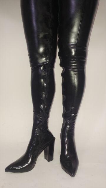 Promotion !  Stiefel latex gummi  schwarz rot  36-47 Fetisch Domina sexy Polen