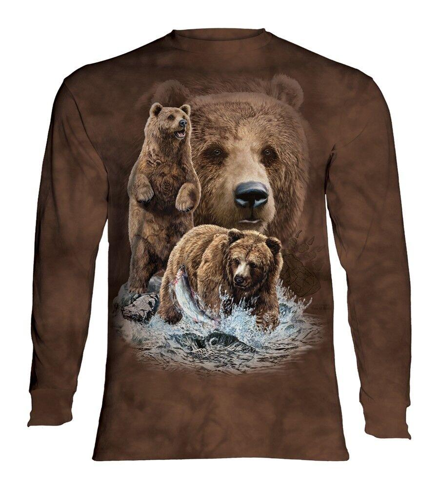 La MONTAGNA adulto trovare 10 ORSI BRUNI maniche lunghe T Shirt
