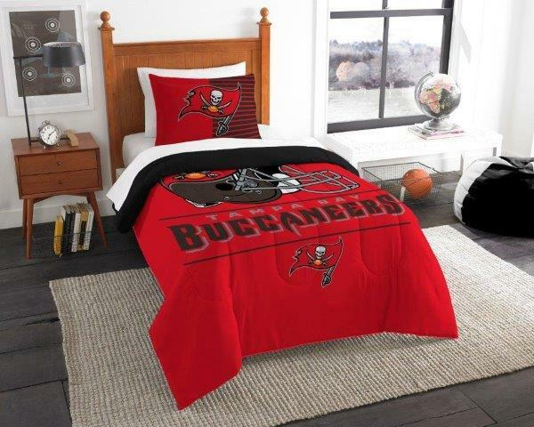Tampa Bay Buccaneers - 2 Pc TWIN Größe Printed Comforter Sham Set
