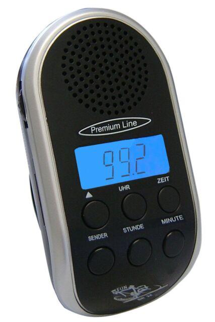 Fahrradradio mit PLL-Tuner, MP3 Anschluss, LCD Anzeige und Uhr Radio