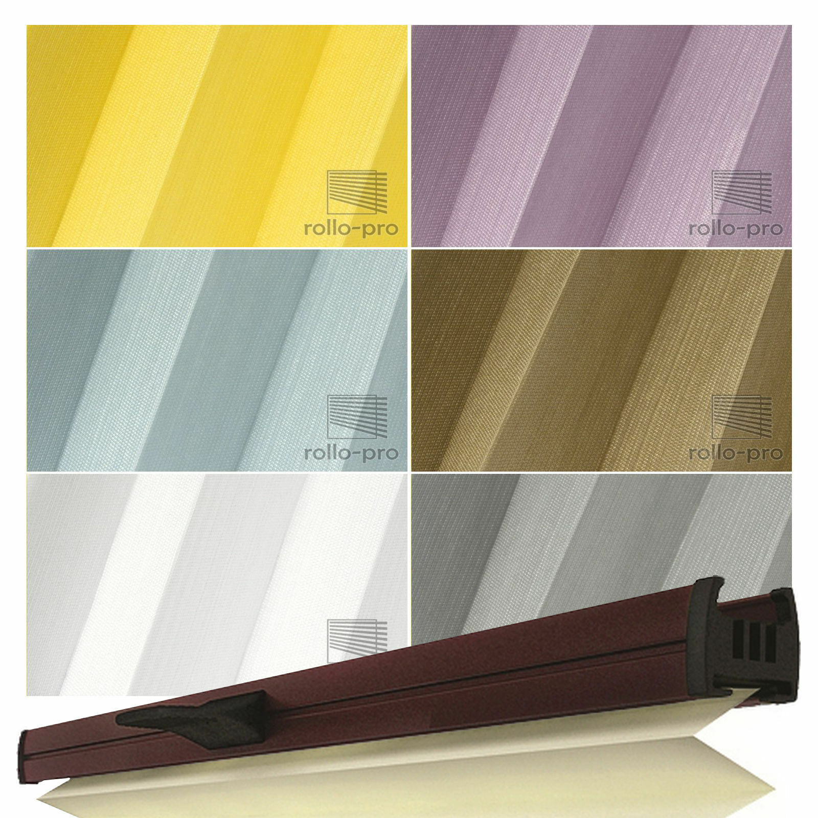 Plissee Faltrollo ohne Bohren Faltstore nach Maß   Klemmfix Klemmfix Klemmfix  KALA  Profil  Braun | König der Quantität  76e2d9