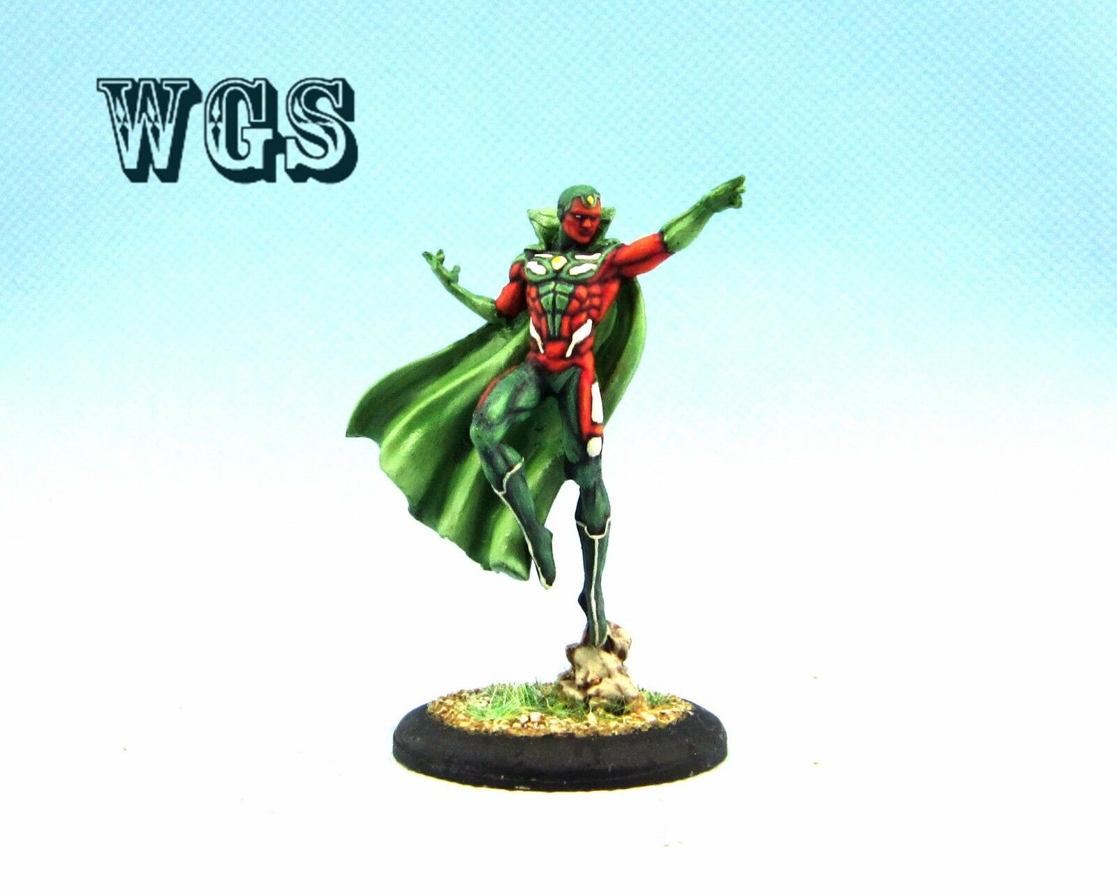 35mm Knight Models painted Batman Miniature Game MARVEL UNIVERSE-Vision KM015