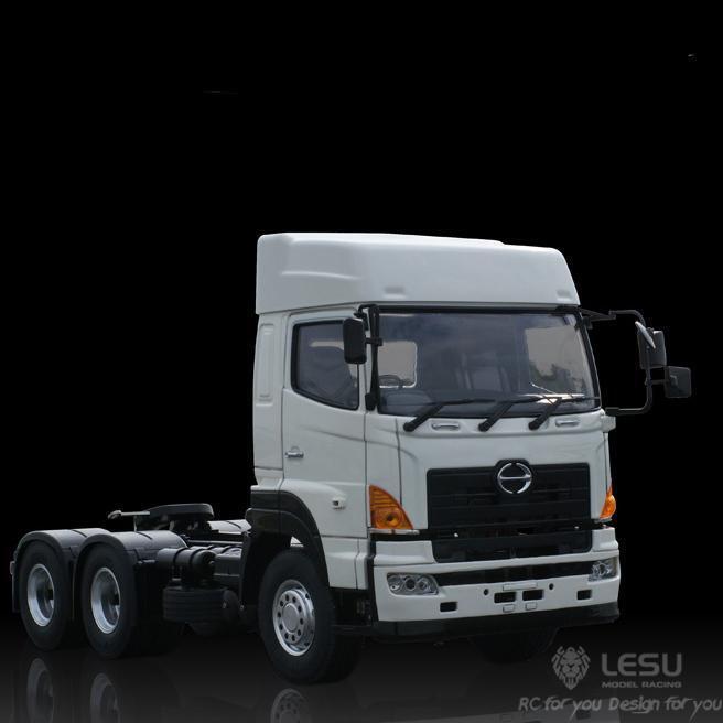 LESU 1 14 Hino 700 64 RC camión de remolque de tractor Modelo De Chasis metálico Motor TAMIYA