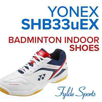 Yonex SHB33EX Men's Trainers Badminton Squash Indoor Court Shoes - White
