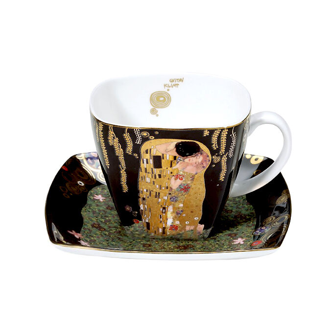 GOEBEL Klimt  Der Kuss  Kaffeetasse Set NEU OVP Artis Orbis Tasse + Unterteller
