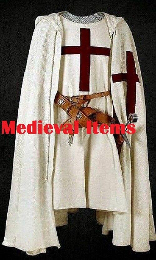 Medieval Cape & Tabard Sleeveless Tunic Surcoat & Cloak Theatre Costume LARP