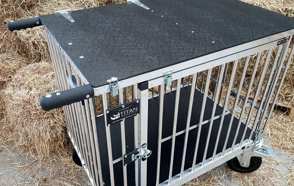 TITAN 1 cuccetta cane GRANDE IN ALLUMINIO mostrano TROLLEY CON CON CON RUOTE 8  All Terrain c2e622