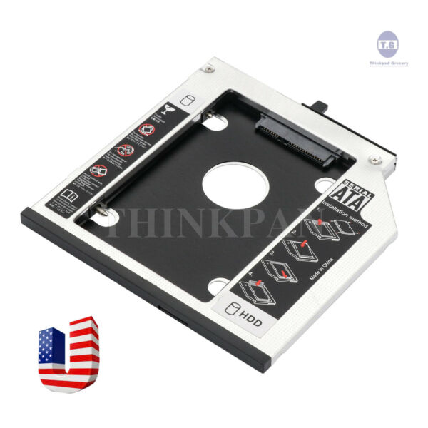 2nd Hdd Hard Drive Caddy For Lenovo Thinkpad T400 T410 T500 W500 X200 X201 X220