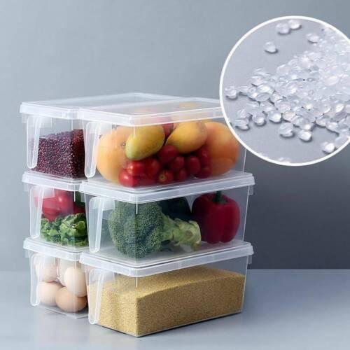 Refrigerator Storage Box Food Container Kitchen Fridge Organizer Freezer Bins TH