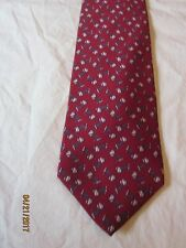 Brooks Brothers Red Cuff  Links  Silk Neck Tie
