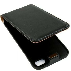iPhone-4-Ledertasche-schwarz-Tasche-Case-Huelle-Case-Cover-Schutz-4s-NEU-TOP-sk24