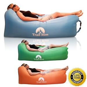 Garden & Patio Best Inflatable Lounger Air Sofa and Pool Float Indoor or Outdoor Ships Fast!