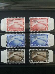 ND-Chicagofahrt-1933-Polarfahrt-1931-Mi-496-498-Mi-456-458-Optik-postfrisch