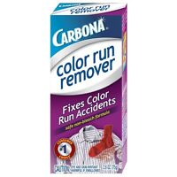 Carbona Color Run Remover Fixes Color Run Accidents Safe Non-bleach Formula