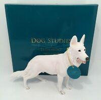 Leonardo Collection White Alsation German Shepherd Dog Ornament Figure Figurine