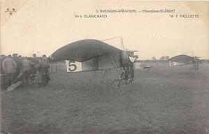CPA-18-BOURGES-AVIATION-MONOPLAN-BLERIOT-BLANCHARD-PAILLETTE
