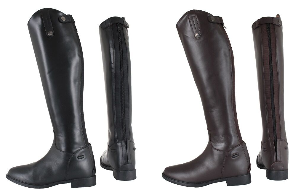 Horka Long Horse Riding Showing Competition Boots EXTRA WIDE WIDE STANDARD CALF