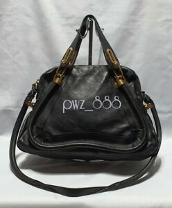 CHLOE-Paraty-2-Way-Medium-Black-Leather-Shoulder-Bag