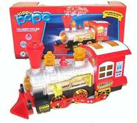Light Up Bubble Blowing Train Novelty Toy Loco Motive Play Trains Blower Machine