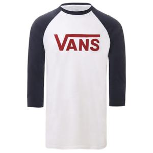 Vans-Classic-Raglan-T-Shirt-White-Biking-Red