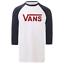 Vans-Classic-Raglan-T-Shirt-White-Biking-Red thumbnail 1