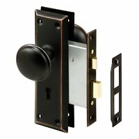 Prime-line Products E 2495 Mortise Lock Set, Keyed, Classic Bronze Knob , New, F on sale