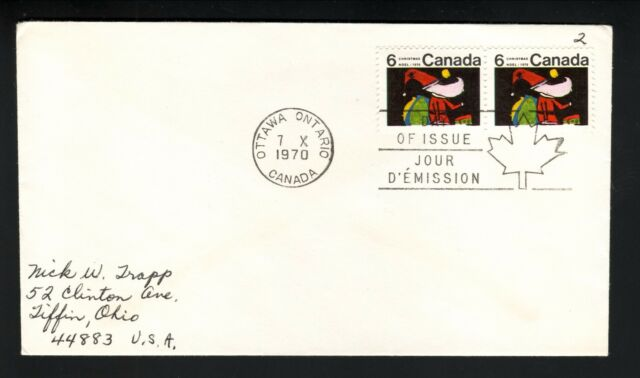 Santa Claus--1970 Canadian First Day Cover--Ottawa, Ontario