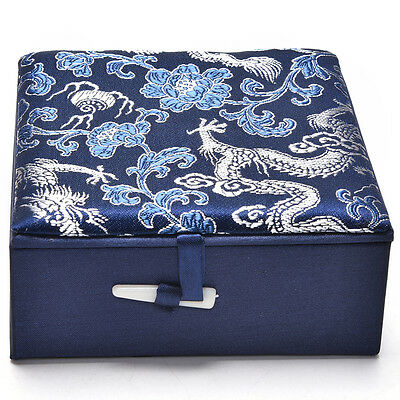 1 Pcs Embroidery Jewelry Box Chinese Traditional Storage Box Delicate Palette