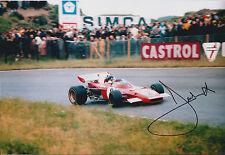 Jacky ICKX SIGNED Monaco RARE AUTOGRAPH 12x8 Photo AFTAL COA Le Mans FERRARI