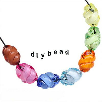80x 112274 Assorted New Colorful Screw Acrylic Spacer Beads DIY Made 12x7mm