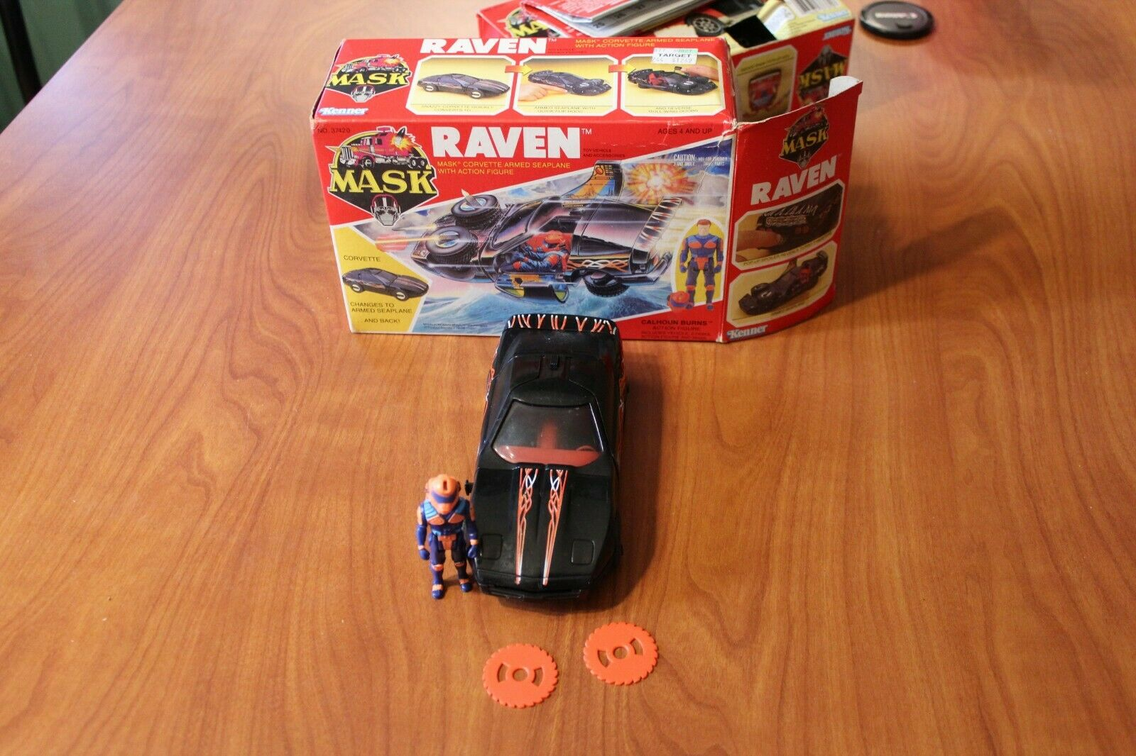 MASK Kenner Raven complete w w w Box, Burns, mask, 2 discs 5658b0