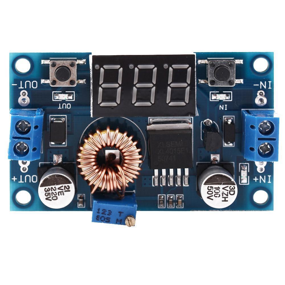 5A Ajustable Power Dc-Dc Reductor Cargador Módulo Led con Voltímetro Nuevo