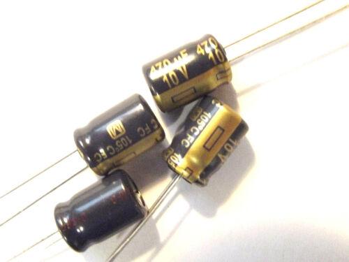 470uf 10v 105c baja ESR tamaño 11.5x8mm Panasonic EEUFC 1A471 x4 un.