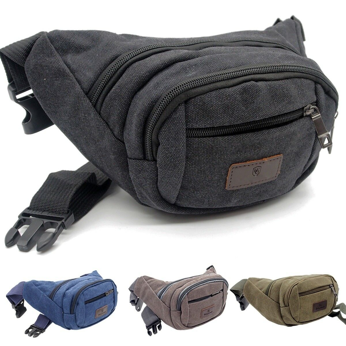 Bag belt canvas satchel banana cotton multi pocket